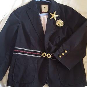 Anthropologie nautical blazer